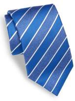 Isaia Diagonal Striped Silk Tie
