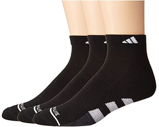 adidas Cushioned II Low Cut Socks 3-Pack (Black/White/Black/Onix Marl) Men's Crew Cut Socks Shoes