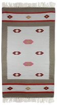 Novica Hand-crafted Indo Wool 'Dreamy Delight' Dhurrie Rug (3' x 5')