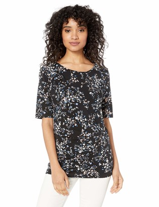 Chaus Women's S/S Side Knot Botanical Soiree Top