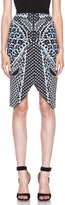 Peter Pilotto Arrow Viscose Skirt in Marble Blue