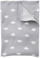 Cuddl Duds Knit Heart Blanket