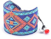 Mishky Rays Patterned Wide Beaded Bracelet