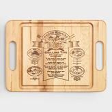 World Market Maple Wood Barbecue Trencher Cutting Board