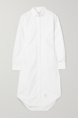Thom Browne Cotton Oxford Shirt Dress - White