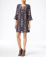 Jessica Simpson Printed Peasant Dress
