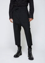 Rick Owens Black Cropped Cargo Trouser