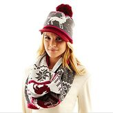 JCPenney Animal Print Fair Isle Hat & Scarf Set