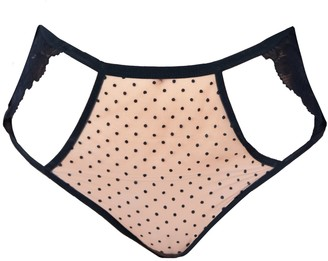 Carol Coelho Inverness Cut Out Lace & Polka Dot Tulle High Waisted Briefs