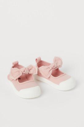 H&M Cotton Canvas Sandals