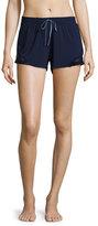 Fleurt Fleur't Lace-Inset Lounge Shorts, Navy