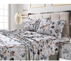 Tribeca Living Amalfi Printed 300 Tc Cotton Sateen Extra Deep Pocket King Sheet Set Bedding