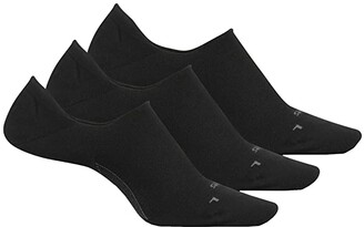 Feetures Everyday No Show 3-Pair Pack (Black) Women's Crew Cut Socks Shoes