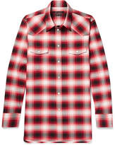 Marc Jacobs Dusty Slim-fit Checked Cotton Shirt - Red