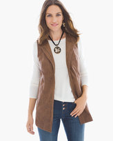 Chico's Edgy Faux-Leather Vest