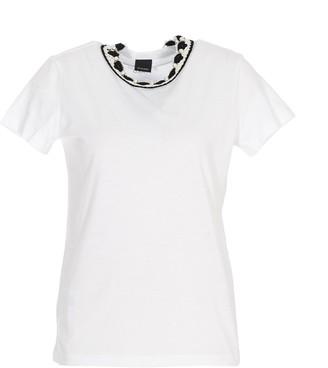Pinko Crocheted Collar T-Shirt