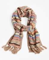 Brooks Brothers Merino Wool-Blend Fair Isle Scarf