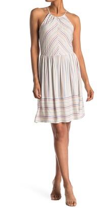 Luna Chix Striped Halter Neck Dress
