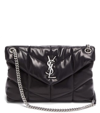 Saint Laurent Loulou Puffer Quilted Leather Shoulder Bag - Black
