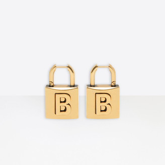 Balenciaga Lock Small Earrings