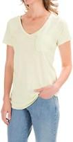 Lilla P Fine Rib Pocket T-Shirt - Pima Cotton, Short Sleeve (For Women)