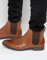 Aldo Merin Chelsea Boots In Tan Leather