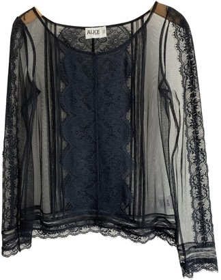 ALICE by Temperley Black Lace Top for Women