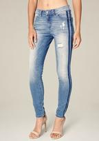 Bebe Racer Heartbreaker Jeans