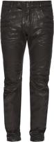 Balmain Biker slim-leg wax-effect jeans
