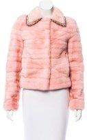 Badgley Mischka Embellished Mink Fur Jacket