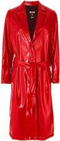 MSGM tied longline coat - women - Polyamide/Polyester/Polyurethane/Spandex/Elastane - 40