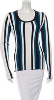 Dolce & Gabbana Silk Striped T-Shirt w/ Tags