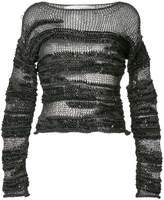 Isabel Benenato sheer patterned sweater