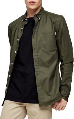 Topman Skinny Fit Button-Down Oxford Shirt