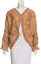 Haute Hippie Silk Embroidered Kimono