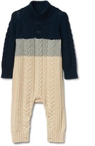 Gap Colorblock cable knit sweater one-piece