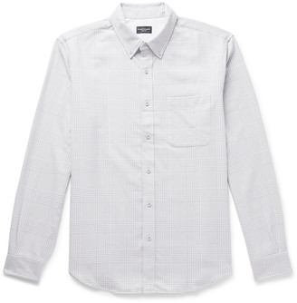 Club Monaco Slim-Fit Button-Down Collar Prince Of Wales Checked Cotton Shirt