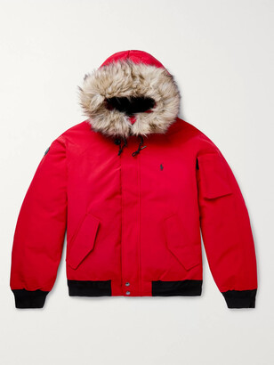 Polo Ralph Lauren Faux Fur-Trimmed Shell Hooded Down Jacket