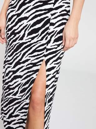 Miss Selfridge Zebra Column Skirt