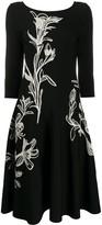 Alexander McQueen flower jacquard midi dress