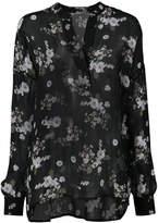 Vince floral print sheer blouse