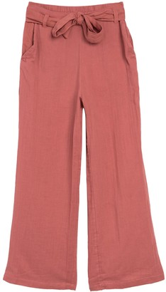 Planet Gold Belted Wide Leg Culotte Pants