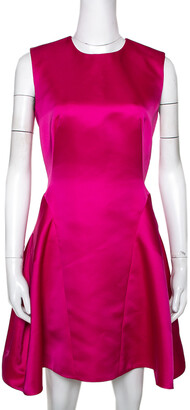 McQ Pink Satin Gather Back Detail Cocktail Dress S