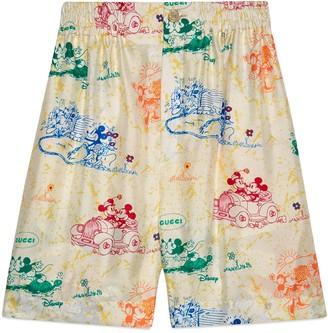 Gucci Disney x silk shorts