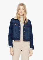 Mango Outlet Dark Denim Jacket