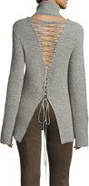 A.L.C. Alexander Lace-Back Turtleneck Wool Cashmere Sweater