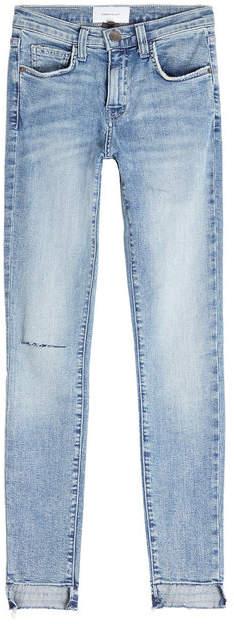 Current/Elliott The High Waist Stiletto Cropped Skinny Jeans