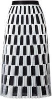 Off-White checked pleated skirt