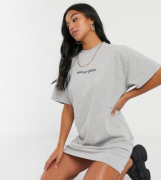 New Girl Order Petite logo T-shirt dress