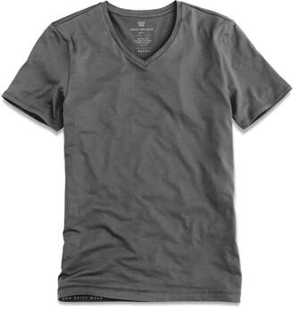 Mack Weldon Silver Vneck Undershirt in Stealth Grey